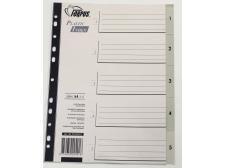 Registri vahelehed A4 1-5 hall plast FO