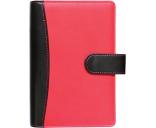 Kalender Time-master Compact 00601/40453 A6 päev kunstnahk must/punane