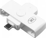 ID-kaardi lugeja USB-C valge