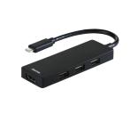 USB jagaja Hama USB-C 3 pesa USB 2.0 + HDMI